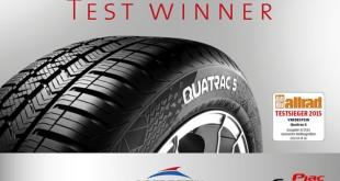 vredestein Quatrac 5 gumi - test winner
