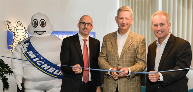 David Jean - kereskedelmi igazgató, Eric Faidy - Michelin régióigazgató, Damien Destremau - termékvonal igazgató