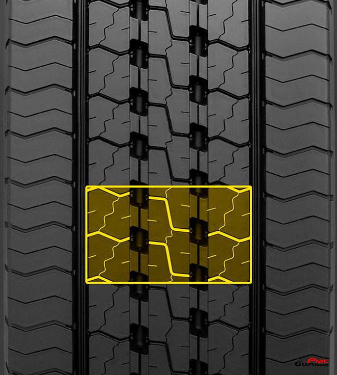 Dunlop gumi SP 346 cikk cakk os mintázat jo nedves tapadas