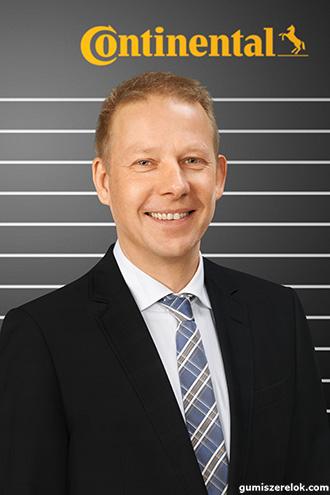 Dr. Andreas Topp, a Continental anyag- és folyamatfejlesztésért, valamint az iparosításért felelős vezetője