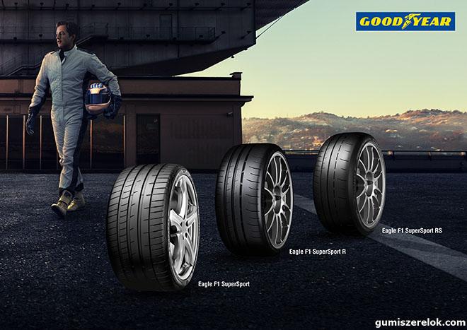 A Goodyear bejelentette három új, ultraultra nagy teljesítményű (UUHP) abroncsát, melyek az Eagle F1 SuperSport, SuperSport R és SuperSport RS márkanevet viselik.