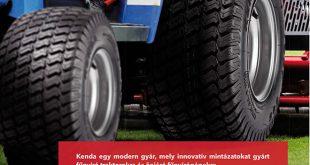 Kenda egy modern gyár, mely innovatív mintázatokat gyárt fűnyíró traktorokra és önjáró fűnyírógépekre.