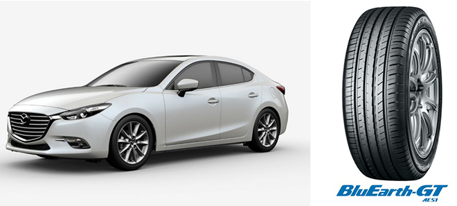 A Mazda Motor Corporation új MAZDA3 modellje 2019 május 24-én került világszerte a piacra. Az új MAZDA3 Észak- Amerika kivételével minden piacon 205/60R16 92V méretű YOKOHAMA BluEarth-GT AE51 abroncsokkal lesz szerelve.