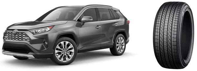 """A Toyota Motor Corporation új RAV4 crossover SUV modelljére """"AVID GT"""" gumiabroncsokat szállít elsőszerelésként a YOKOHAMA. Az autómodell gyártása 2018-ban indult Észak-Amerikában, majd bemutatták Japánban, Dél-Koreában, valamint Európa más piacain is. Az új RAV4 235/55R19 101V méretű """"AVID GT"""" abroncsokkal lesz szerelve."""