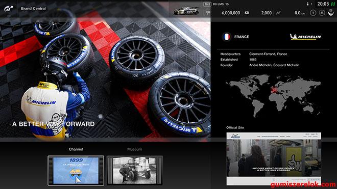 """A PlayStation választása a francia abroncsgyártóra esett: a videojátékpiac jelenleg legvalósághűbb versenyszimulátor-játékának, a Gran Turismónak """"hivatalos abroncstechnológiai partnere""""lett a Michelin"""
