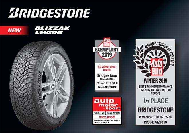 A Bridgestone, a világ legnagyobb gumiabroncs- és gumitermék gyártó cége átdolgozta prémium Blizzak téli abroncs kínálatát. Az egyedülálló futófelület-mintázattal és a Bridgestone korszerű NanoPro-tech gumikeverékével készült Bridgestone Blizzak LM005 kivételes irányíthatóságot és biztonságot ad a járművezetőknek, kihívást jelentő feltételek mellett is. A Bridgestone Blizzak LM005 használatakor a járművezetők optimális teljesítményt élvezhetnek nedves, havas és jeges úton is.