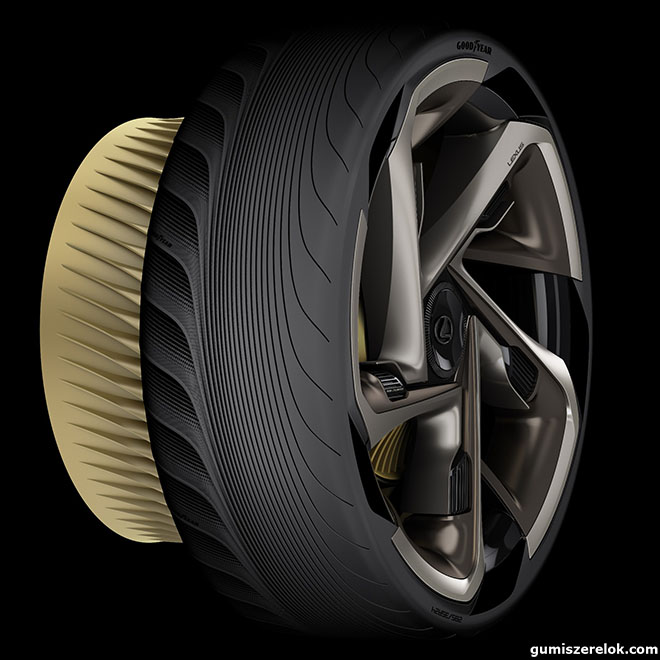 A Goodyear koncepcionális abroncsamindenben a modern, áramvonalas és sportos Lexus igényeihez igazodik.