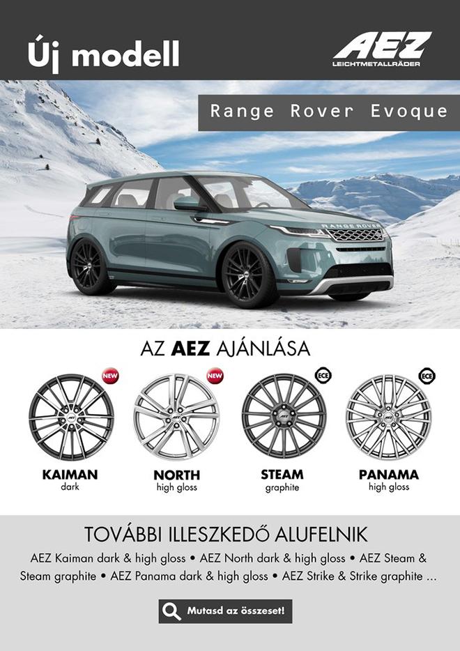Ezentúl minden új, a piacon megjelenő autómodellhez ajánlunk alufelni modelleket az AEZ, DOTZ, DEZENT kínálatából, melyek akár az ECE tanúsítványnak köszönhetően gyári csavarokkal is felszerelhetők.