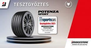 """Az """"új első osztályú sportabroncs"""" Bridgestone Potenza Sport első helyezést ért el az AutoBild Sportautók 2021-es sportabroncs tesztjén"""