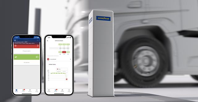 A Goodyear DrivePoint használatával az abroncsnyomás néhány másodperc alatt ellenőrizhető