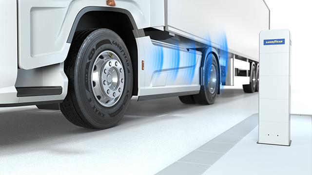 A Goodyear fejlesztette ki a DrivePoint nevű rendszert, amely felhasználóbarát módon teszi lehetővé az abroncsnyomás ellenőrzését.